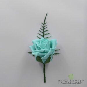 Tiffany blue rose buttonhole