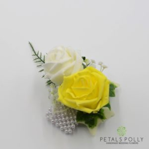 yellow rose wrist corsage