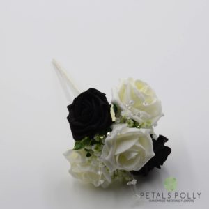 black flower girl wand