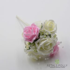 baby pink flower girl wand