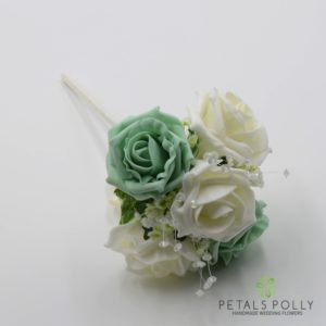 mint green flower girl wand