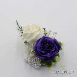 purple rose wrist corsage