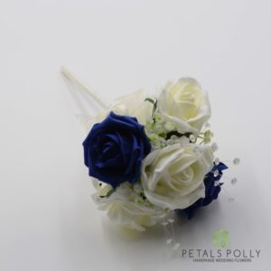 navy blue flower girl wand