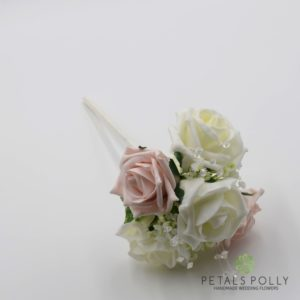 mocha flower girl wand