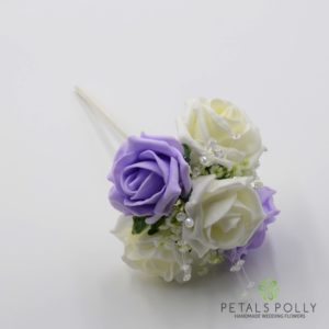 lilac flower girl wand