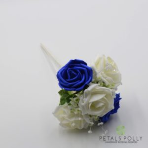 royal blue flower girl wand