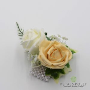 gold rose wrist corsage