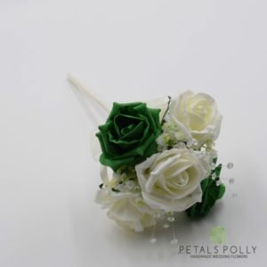 green flower girl wand