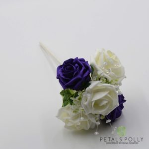 purple flower girl wand