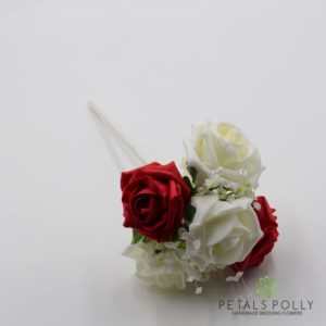 red flower girl wand