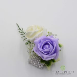 lilac rose wrist corsage