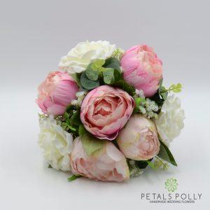 peony rose bridesmaids posy