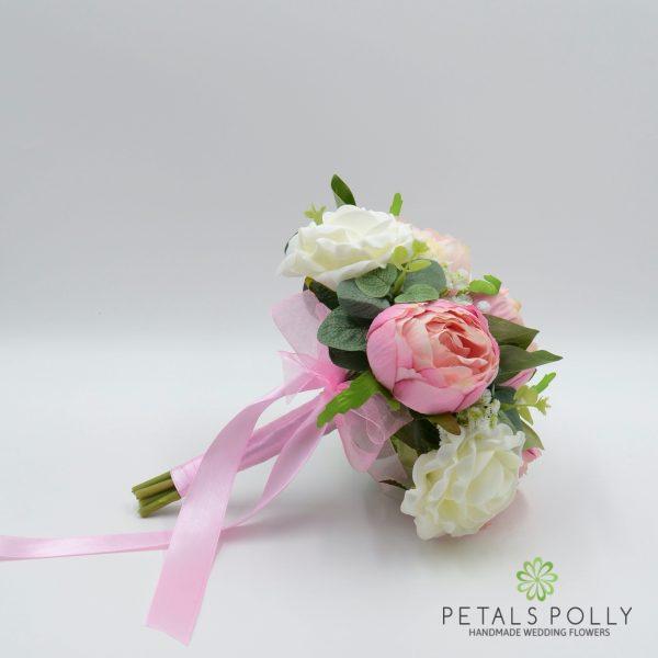 Pastel Pink Peony & Ivory Bridesmaids Posy