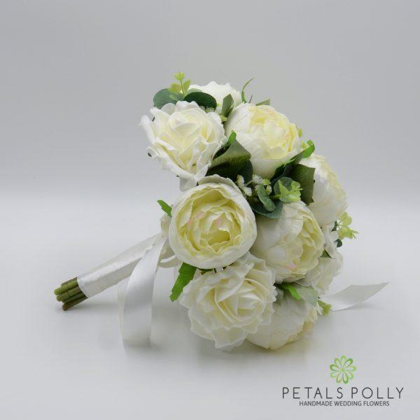 Ivory Brides Posy with Peonies & Eucalyptus