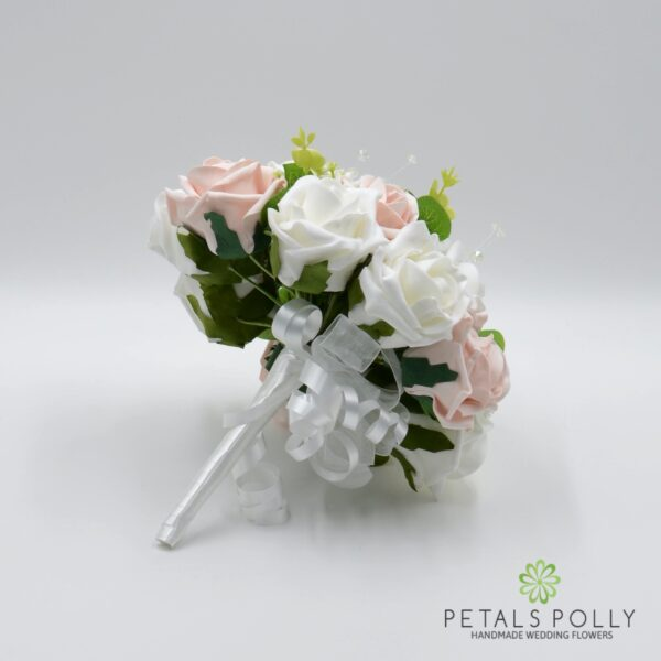 Mocha & White Rose Bridesmaids Posy
