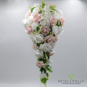 Mocha & White Rose Bridesmaids Posy
