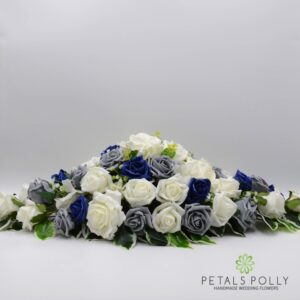 navy grey top table decoration