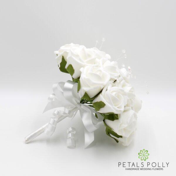 White Foam Rose Package