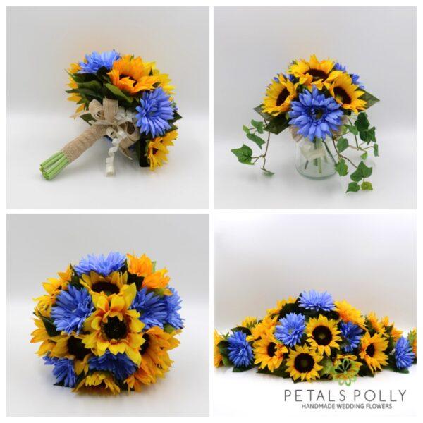 Sunflower & Blue Gerbera Package